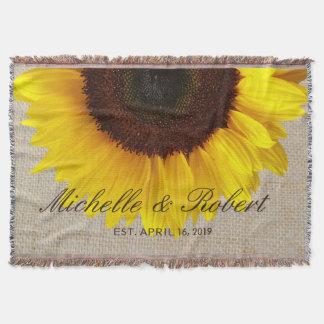 Sonnenblume auf Leinwand-rustikaler Decke