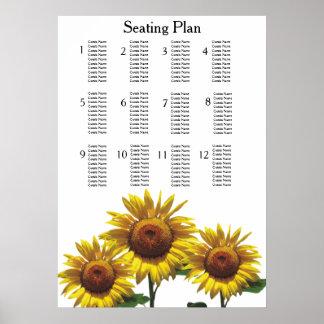 Sonnenblume-billige Hochzeit verpackt Poster