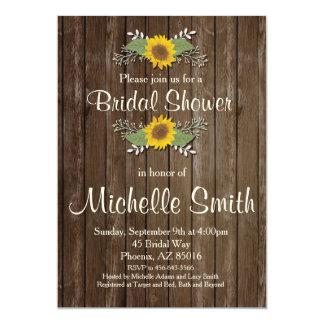 Sonnenblume-Brautparty-Einladung, rustikal, mit 12,7 X 17,8 Cm Einladungskarte