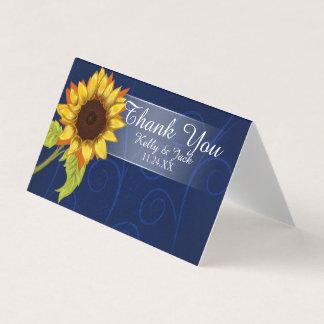 Sonnenblume/danken Ihnen Hochzeitskarte Karte