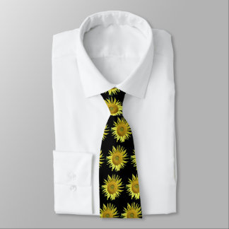 Sonnenblume-Eierstockkrebs-Bewusstseins-Krawatte - Personalisierte Krawatten