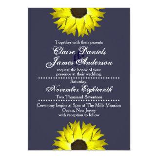 Sonnenblume-Einladungen - Hochzeit/besondere Karte
