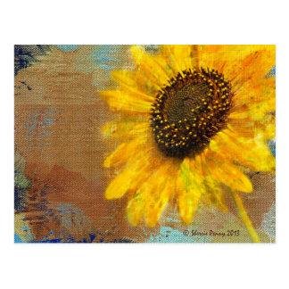 Sonnenblume-Explosions-Postkarte Postkarte