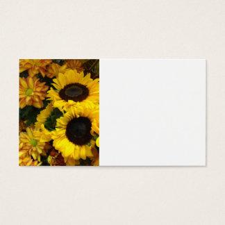 Sonnenblume-Fall-Blumen Visitenkarte