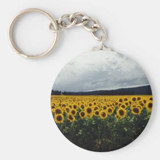 Sonnenblume-Feld Keychain Schlüsselanhänger