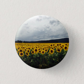 Sonnenblume-Feld-Knopf Runder Button 3,2 Cm