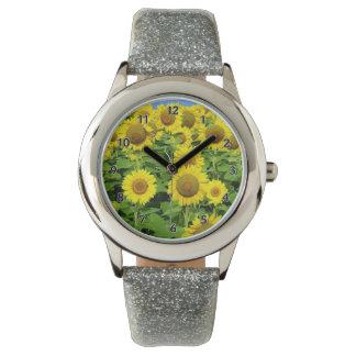 Sonnenblume-Felder Uhr