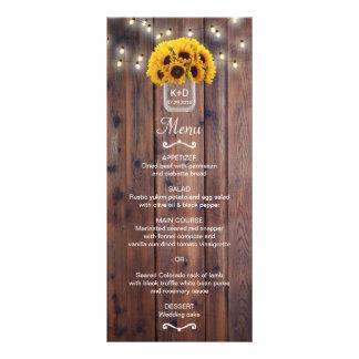 Sonnenblume-Glas-Schnur beleuchtet rustikales Werbekarte
