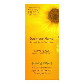 Sonnenblume-Glühen Werbekarte