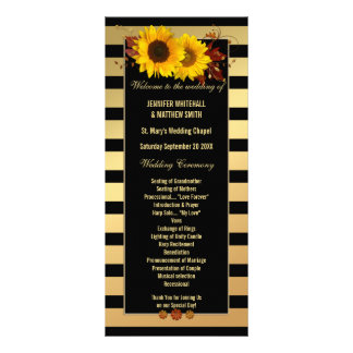 Sonnenblume-Goldgestreifte Werbekarte