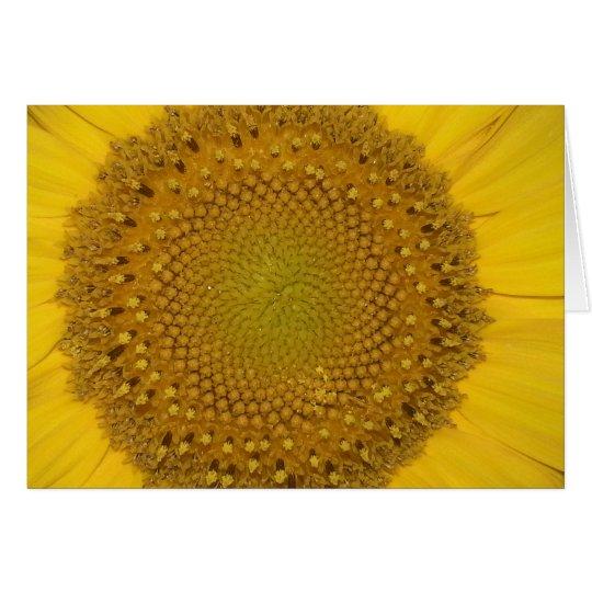 Sonnenblume-Gruß-Karte Karte
