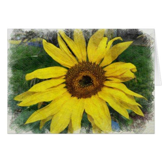Sonnenblume Grußkarte