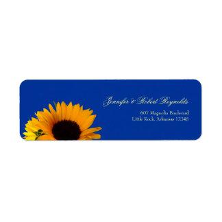 Sonnenblume-Hochzeits-Adressen-Etikett