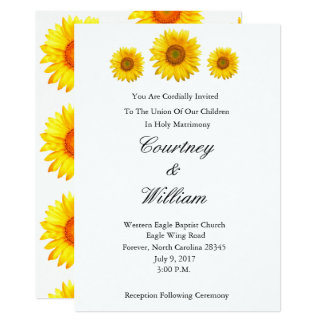 Sonnenblume-Hochzeits-Einladung Karte