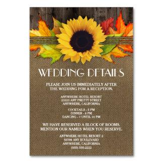 Sonnenblume-Hochzeits-Empfangs-Anpassungs-Karten