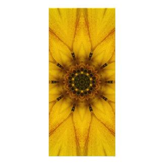 Sonnenblume-Kaleidoskop Werbekarte