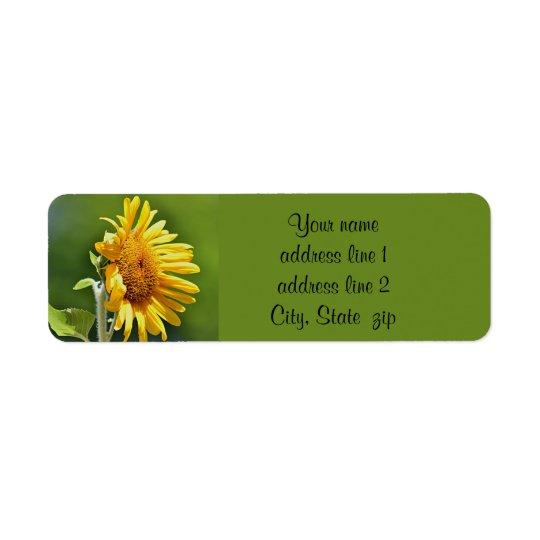 Sonnenblume Kleiner Adressaufkleber