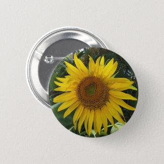 Sonnenblume-Knopf Runder Button 5,7 Cm