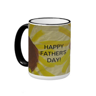 Sonnenblume-Kunst, die glückliche der Vatertags-Ta Kaffeetasse