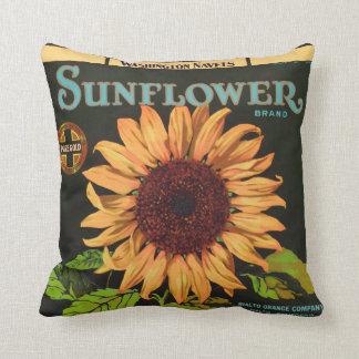 Sonnenblume-Marken-orange Frucht-Kisten-Aufkleber Kissen