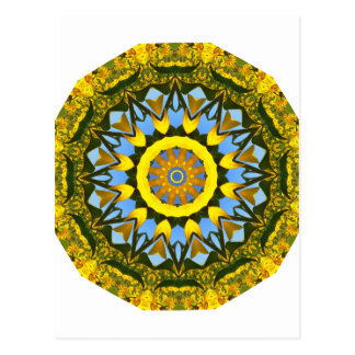 Sonnenblume-Natur, Blume-Mandala (Blumen-Mandala) Postkarte