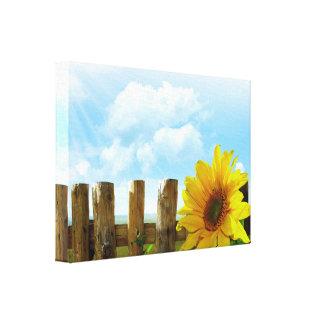 Sonnenblume-Natur-Schönheit Galerie Faltleinwand