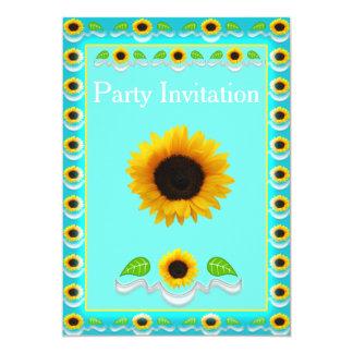 Sonnenblume-Party Einladungen