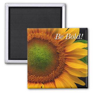 Sonnenblume Quadratischer Magnet