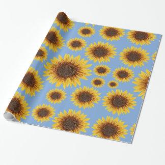 Sonnenblume-Regen Geschenkpapier