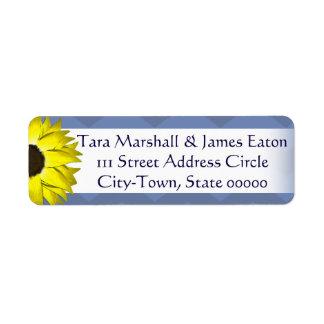 Sonnenblume-Rücksendeadressen-Aufkleber Rückversand-Adressaufkleber