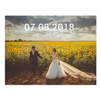 Sonnenblume Save the Date Postkarte