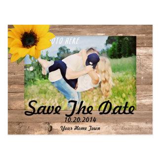 Sonnenblume Save the Date Postkarte