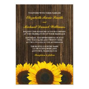 Sonnenblume Scheunen Hölzerne Hochzeit Einladung