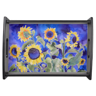 Sonnenblume-Serviertablett Tablett