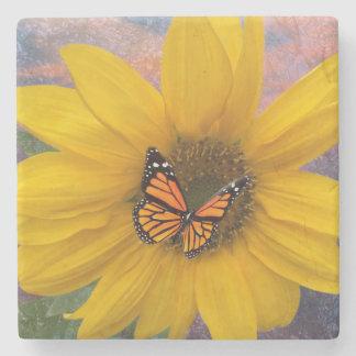 Sonnenblume-Sommer Steinuntersetzer