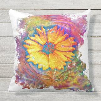 Sonnenblume-Spritzen Kissen