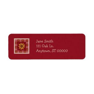 Sonnenblume-Steppdecken-kundengerechte Kleiner Adressaufkleber