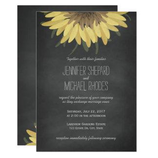 Sonnenblume-Tafel-rustikale Hochzeits-Einladung 12,7 X 17,8 Cm Einladungskarte
