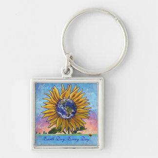 Sonnenblume-Tag der Erde jeden Tag Keychain Schlüsselanhänger