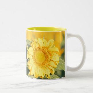Sonnenblume-Tasse Zweifarbige Tasse