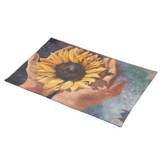 Sonnenblume-Tischsets Stofftischset