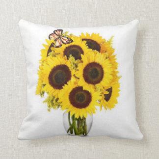 Sonnenblume-Überraschung Zierkissen