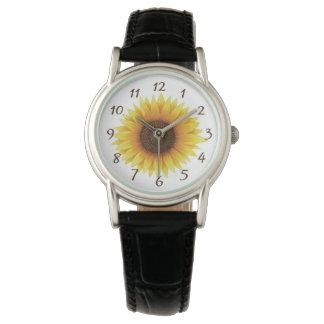 Sonnenblume-Uhr Armbanduhr