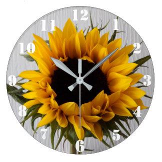 Sonnenblume-Uhr Große Wanduhr