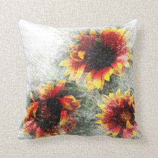 Sonnenblume-und Gänseblümchen-BlumenWurfs-Kissen Kissen