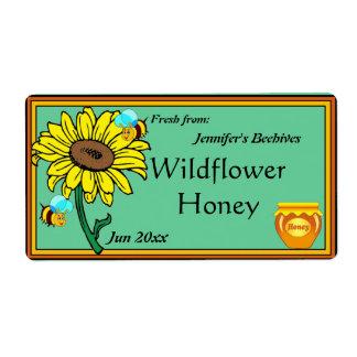 Sonnenblume-und Honig-Topf Versand Aufkleber