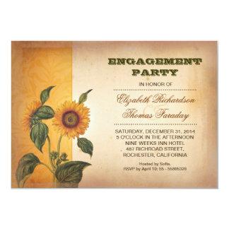 Sonnenblume-Verlobungs-Party laden ein 12,7 X 17,8 Cm Einladungskarte