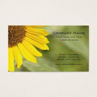Sonnenblume-Wildblume-Geschäfts-Karte Visitenkarte