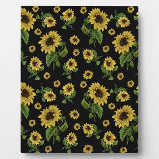 Sonnenblumemuster Fotoplatte