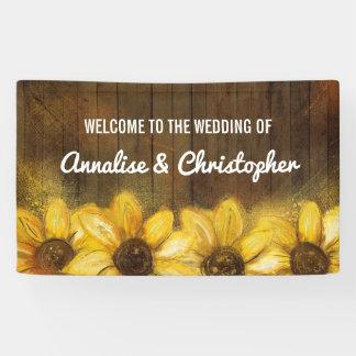 Sonnenblumen auf Willkommen des Holz-| zur Banner